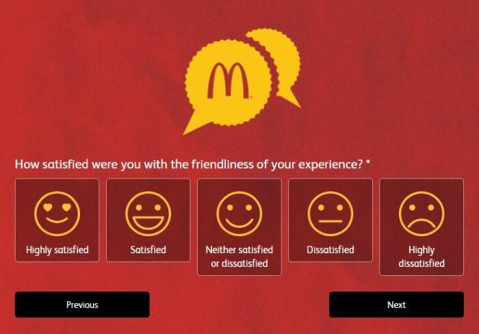 Screenshot Of Mcdonald's Australia Feedback Form 7