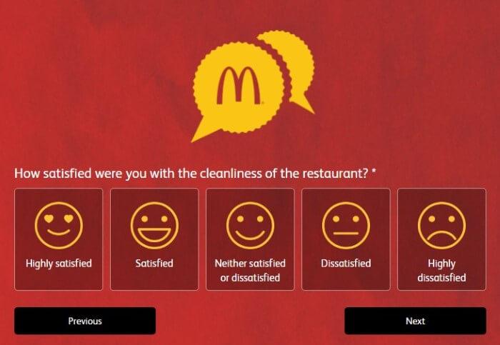 Screenshot Of Mcdonald's Australia Feedback Form 9