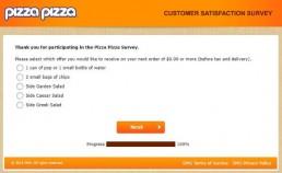 Screenshot Of Pizza Pizza Survey 2