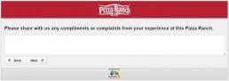 Screenshot Of Pizza Ranch Feedback Form 11