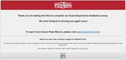 Screenshot Of Pizza Ranch Feedback Form 13