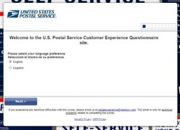 Screenshot Of Postalexperience Survey 1
