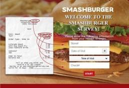 Screenshot Of Smashburger Feedback Form