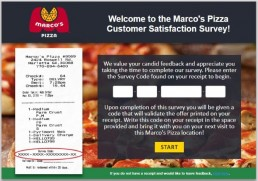 Screenshot Of Tellmarcos Survey For Marco's Pizza