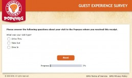 Screenshot Of Tellpopeyes Survey 1