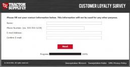 Screenshot Of Tractor Supply Survey 11