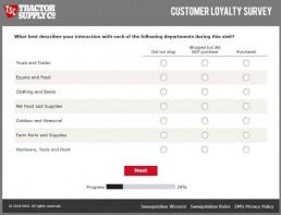 Screenshot Of Tractor Supply Survey 5
