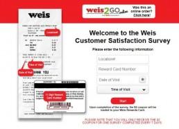 Screenshot Of Weis Feedback Survey