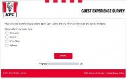 Screenshot Of Yourkfc Uk Survey 1