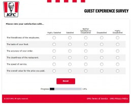 Screenshot Of Yourkfc Uk Survey 4