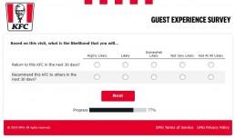 Screenshot Of Yourkfc Uk Survey 5