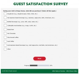 Screenshot Of Mykrispykremeexperience.com.ph Survey 2