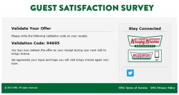 Screenshot Of Mykrispykremeexperience.com.ph Survey 8