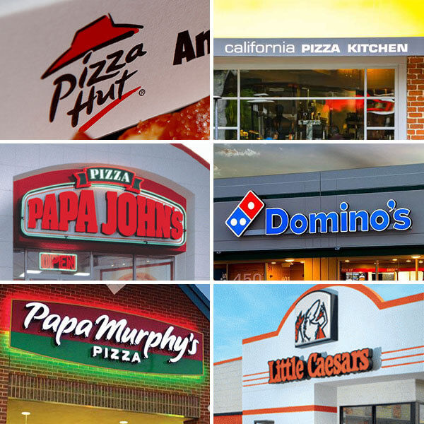 Some Of The Biggest Pizza Chains In Usa