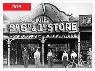 The First Coles In Australia