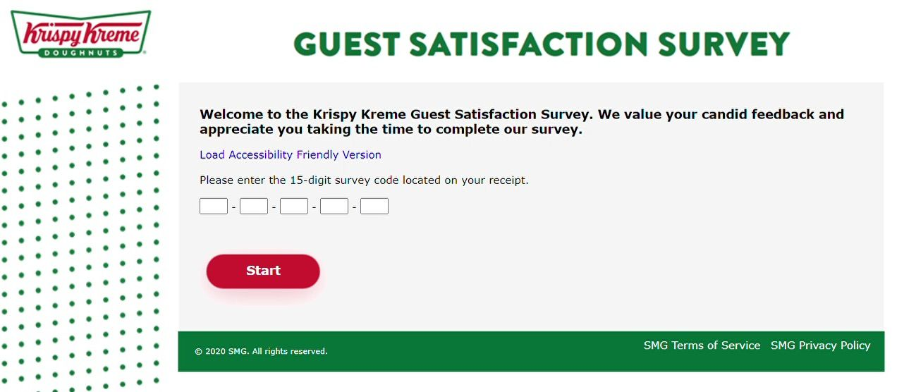 Where To Enter Survey Code For Krispy Kreme