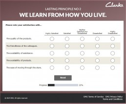 Www.neverstandstillclarks.co.uk Survey Screenshot 5